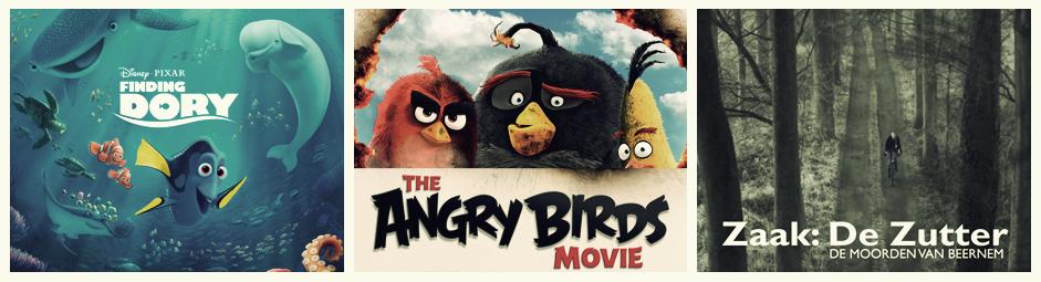Juni 2016 (Finding Dory, Angry Birds en Zaak: DZ)